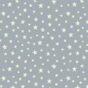 Lewis & Irene - Christmas Glow - 6703 -  Stars on Grey (Glow in the Dark) - C48.1 - Cotton Fabric